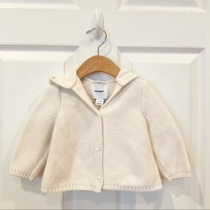 Old Navy hooded knit sweater.